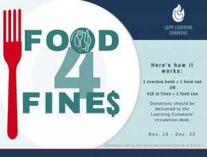 Food for Fines Flyer