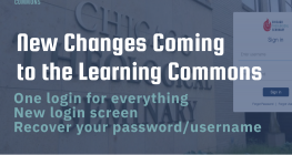 Flyer about new changes in the library